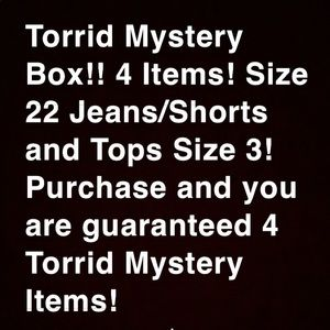 🍕TORRID SIZE 22/3 MYSTERY BOX WITH 4 ITEMS !! 😮